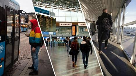 Ensi viikon tukilakot vaikuttaisivat pääkaupunkiseudun bussiliikenteeseen, Helsinki-Vantaan lentomatkustajiin ja matkustajalaivojen toimintaan.