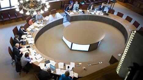 Hallitusneuvottelut Säätytalolla keskiviikkona.