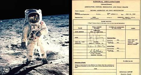 Buzz Aldrinin twiittaama selvityslomake kuumatkasta ei ollutkaan virallinen.