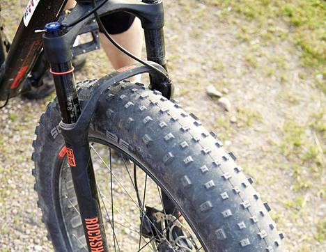 Fatbike-pyöriä on voinut vuokrata myös lyhyille retkille.