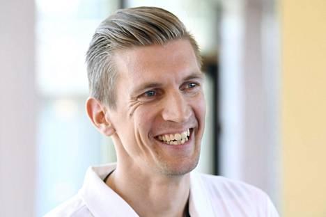 Jarkko Nieminen Tennisliiton infossa perjantaina.