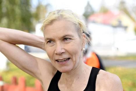 Laura Manninen saavutti nyt toisen mestaruutensa maantiejuoksun SM-kilpailuissa. Kuva viime vuoden lokakuulta.