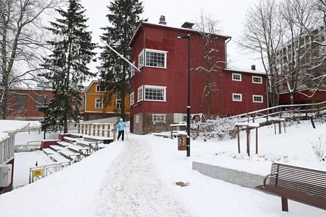 Veininmylly ja sen takana oleva keltainen Villa Söderbo ovat myynnissä.