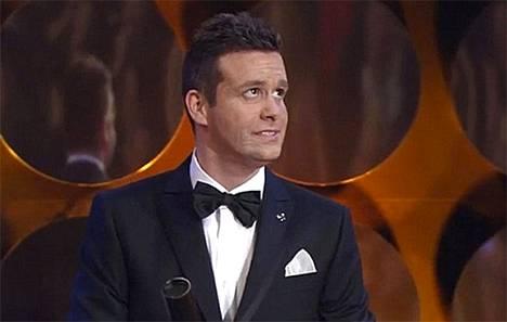 Väärä Jim Carrey. Kuvakaappaus Tšekin television lähetyksestä.