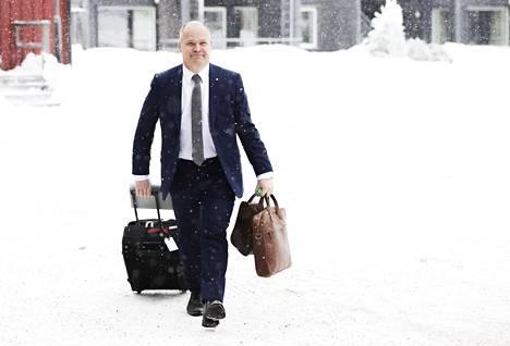 Ruotsin oikeus- ja sisäministeri Morgan Johansson saapui Säleniin sunnuntaina.