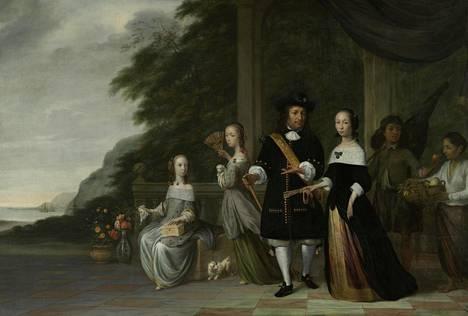 Jacob Coemanin maalaus vuodelta 1665 kuvaa Batavian (nyk. Jakarta) johtajaa Pieter Cnollia, hänen vaimoaan, kauppias Cornelia van Nieuwroodea ja muuta perhettä. Oikealla sivulla perheen kaksi orjuutettua palvelijaa.