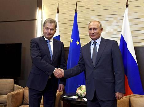 Presidentti Sauli Niinistö ja Venäjän presidentti Vladimir Putin tapasivat Sotšissa keskiviikkona.