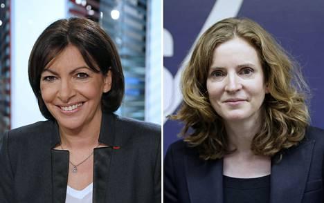 Anne Hidalgo (vas.) johtaa Pariisin pormestarivaalin mielipidemittauksia. Nathalie Kosciusko-Morizet on kuitenkin lähellä.