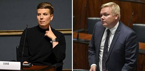 Vihreiden eduskuntaryhmän puheenjohtaja Jenni Pitko sanoo, ettei hän ole arvostellut perustuslakivaliokunnan valiokuntaneuvosta. Keskustan eduskuntaryhmän puheenjohtaja Antti Kurvinen on HS:n tietojen mukaan yksi heistä, jotka ovat suuttuneet vihreille viesteistä.