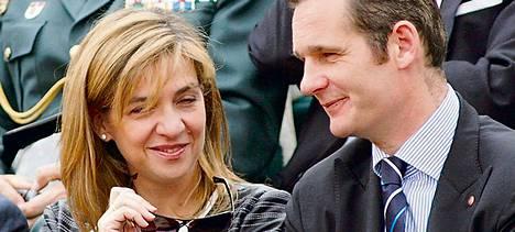 Prinsessa Cristina ja hänen miehensä Iñaki Urdangarin vuonna 2007.