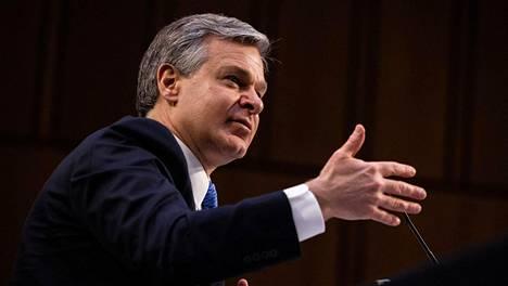 FBI:n johtaja Christopher Wray kävi tiistaina kuultavana Yhdysvaltain senaatissa Washingtonissa.