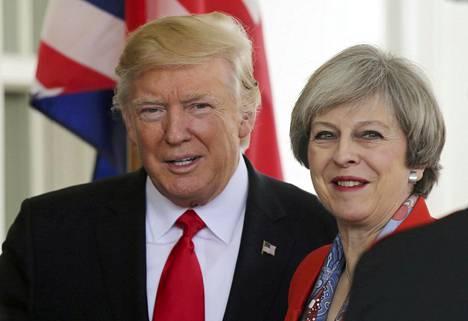 Britannian pääministeri Theresa May vieraili perjantaina Yhdysvaltain presidentti Donald Trumpin luona Valkoisessa talossa Washingtonissa.