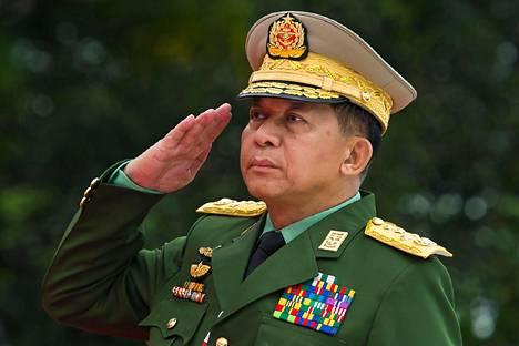 Myanmarin sotilasjuntan johtaja, kenraali Min Aung Hlaing.