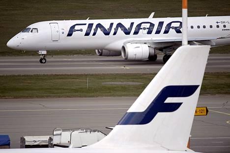 Finnairin lentokoneita Helsinki-Vantaalla toukokuussa 2014.