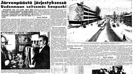 Thus, the change of Järvenpää towards the city was announced on April 13, 1966.