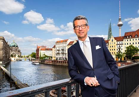 Saksan teollisuuden keskusjärjestön (BDI) johtaja Ulrich Grillo Berliinissä kesäkuun alussa.
