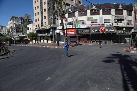 Länsirannan Hebronin kaupungissa oli tiistaina hiljaista palestiinalaisten lakkoillessa Israelia vastaan.