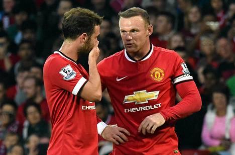 Juan Mata ja Wayne Rooney ovat Manchester Unitedin avainpelaajia.