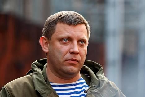 Aleksander Zahartšenko maaliskuussa 2018 Ukrainan Donetskissa.