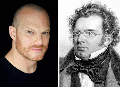 Pianisti Lars Vogt ja säveltäjä Frans Schubert.