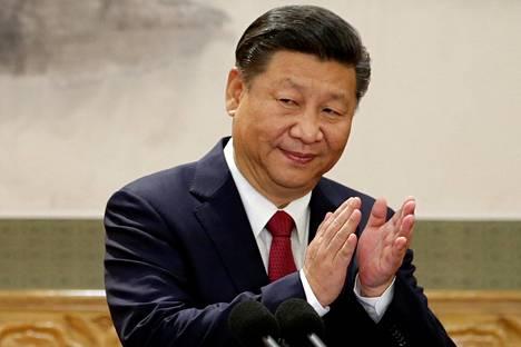 Kiinan kommunistisen puolueen pääsihteeri Xi Jinping taputti kommunistisen puolueen puoluekokouksessa Pekingissä viime viikolla.