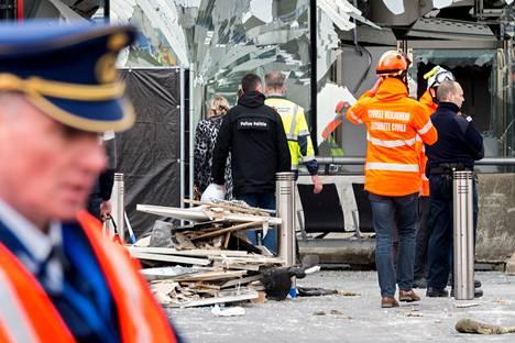 Terroristit räjäyttivät pommin Brysselin Zaventemin lentokentällä viime maaliskuussa.