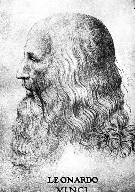 Leonardo Da Vincin omakuva noin vuodelta 1500.