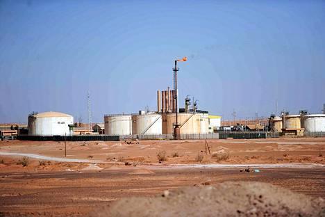 Statoilin kaasu- ja öljylaitos In Aménasin kaupungissa.
