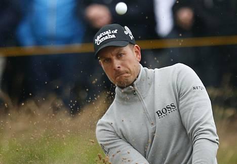 Henrik Stenson tämän vuoden Open Championshipissä.
