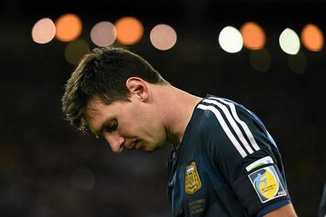 Argentiinan joukkueen kapteeni Lionel Messi Saksalle hävityn ottelun jälkeen.