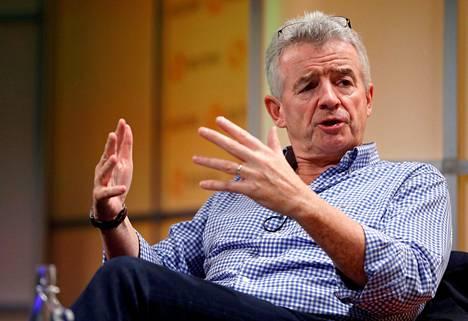 Ryanairin toimitusjohtaja Michael O'Leary kritisoi nykyistä turvatarkastusjärjestelmää lentokentillä. O'Leary kuvattuna Lontoossa lokakuussa 2019.