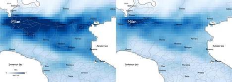 Liikkumisen rajoittaminen on näkynyt esimerkiksi typen oksidien määrän nopeana vähenemisenä Milanon lähistöllä Italiassa.