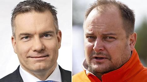 Patrian Land-toiminnan liiketoimintajohtaja Mika Kari (vas.) ja myynti- ja markkinointijohtaja Juha Simola.