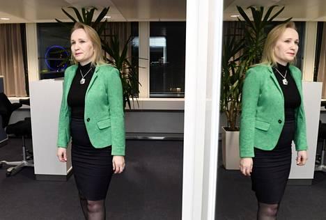 Teknologiateollisuuden työmarkkinajohtaja Minna Helle kommentoi lauantaina hyväksyttyä työehtosopimusta Etelärannassa.