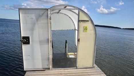 Haukilahden talviuintipaikka on toistaiseksi poissa käytöstä.