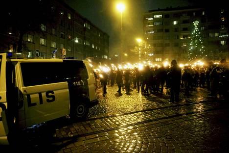 612-kulkue lähti Töölöntorilta itsenäisyyspäivänä vuonna 2015.