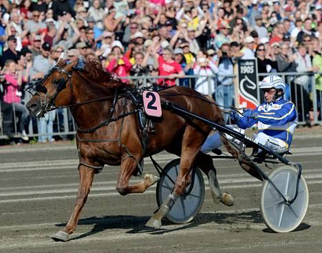 Jokivarren Kunkku voitti kaikki kolme matkaa Jorma Kontion ohjastamana.