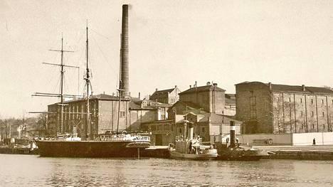 Auran sokeritehdas pysyi Aurajoen rannassa vuoteen 1961.