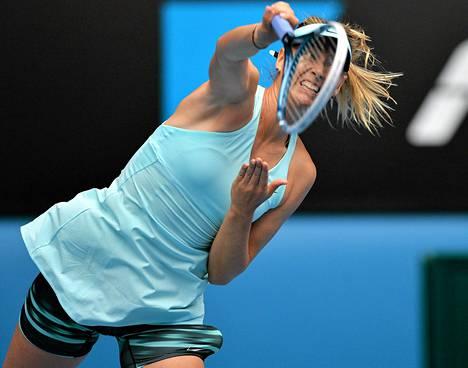 Maria Sharapovan pelit Australian avointen kaksinpelissä päättyivät neljännelle kierrokselle.