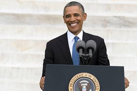 Presidentti Barack Obama oli keskiviikon tilaisuuden pääpuhuja.
