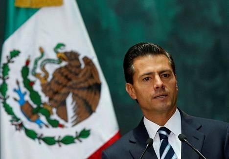 Meksikon presidentti Enrique Peña Nieto maan pääkaupungissa Méxicossa elokuun alussa.
