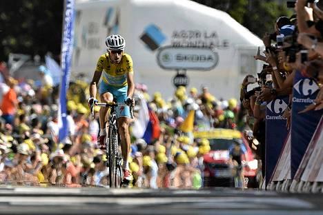 Vincent Nibali voitti Ranskan ympäriajon 13. osuuden.