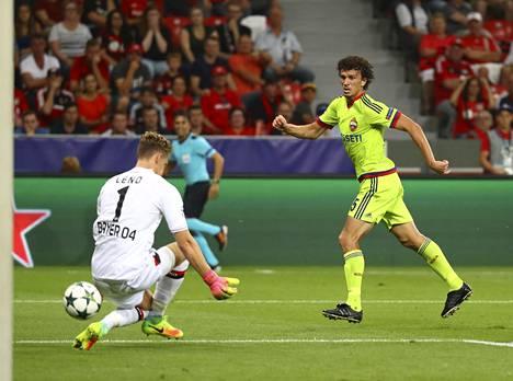 Roman Eremenko jäi kiinni kokaiinista Bayer Leverkusenia vastaan pelatun Mestarien liigan ottelun jälkeen.