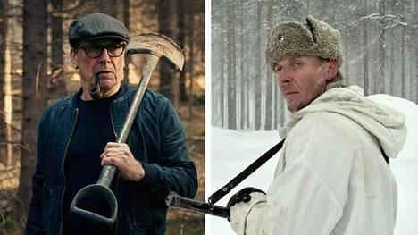 Matti Onnismaa Armomurhaajassa (vas.) ja Eero Aho Tuntemattomassa sotilaassa.