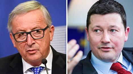 EU-komission puheenjohtaja Jean-Claude Juncker ja komission uusi pääsihteri Martin Selmayr.