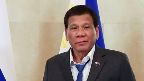 Filippiinien presidentti Rodrigo Duterte osallistui kokoukseen Sotšissa 3. lokakuuta.