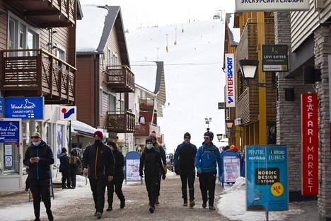 Kittilän kunnan ravintolat pidettiin kiinni pidempään kuin muualla Lapissa. Kuva Levin laskettelu- ja hiihtokeskuksesta.