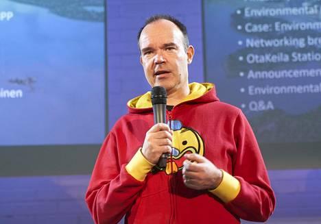 Peter Vesterbacka kertoi oman Talllinna-tunnelinsa suunnitelmista tämän vuoden maaliskuussa Espoon Otaniemessä järjestetyssä tilaisuudessa.