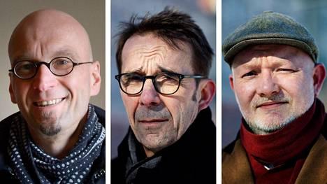 Arkkitehti Harri Hautajärvi, Helsingin kaupunkiympäristön toimialajohtaja Mikko Aho ja arkkitehti Juhana Heikonen.