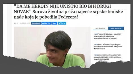 Serbialainen Blic-lehti kirjoitti Nikola Gnjatovićista viikonloppuna.